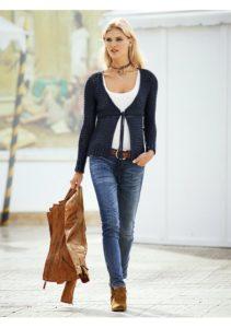 Вечная классика - джинсы и кожа